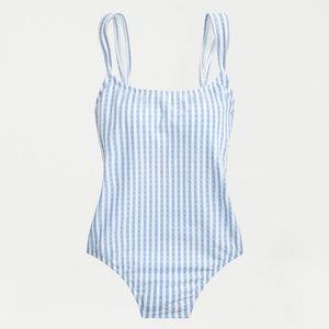 JCrew Bow-strap one-piece swimsuit